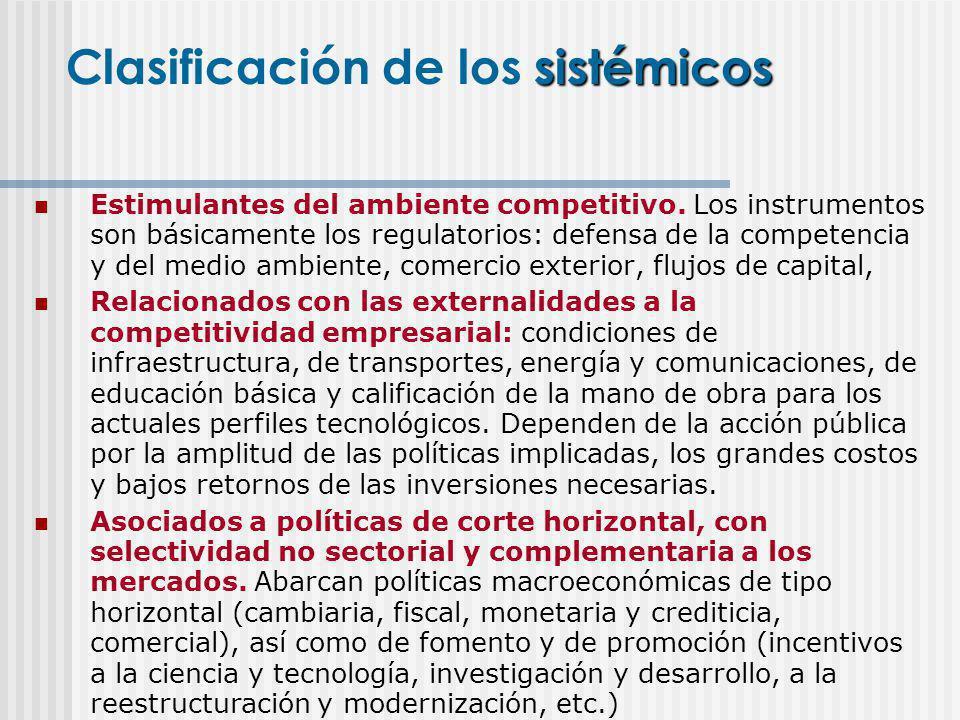 Clasificación de los sistémicos