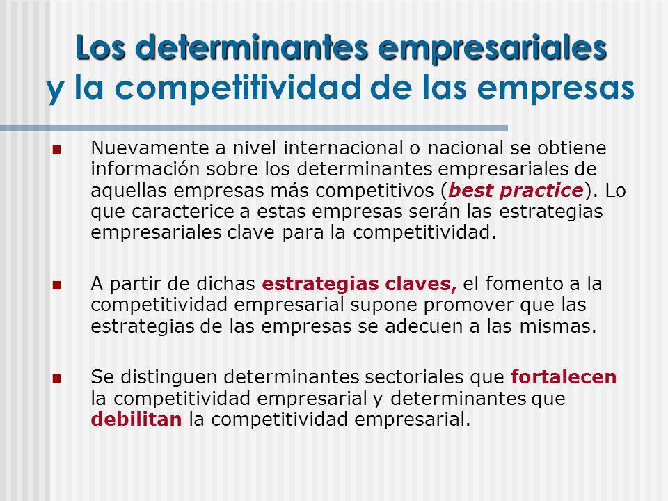 Los determinantes empresariales y la competitividad de las empresas