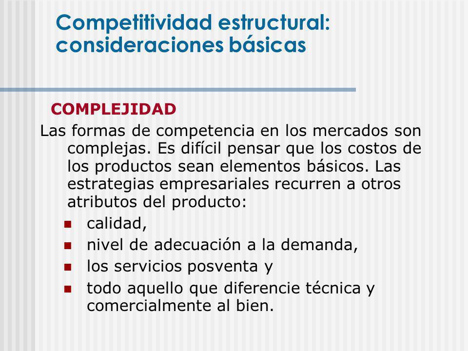 Competitividad estructural: consideraciones básicas