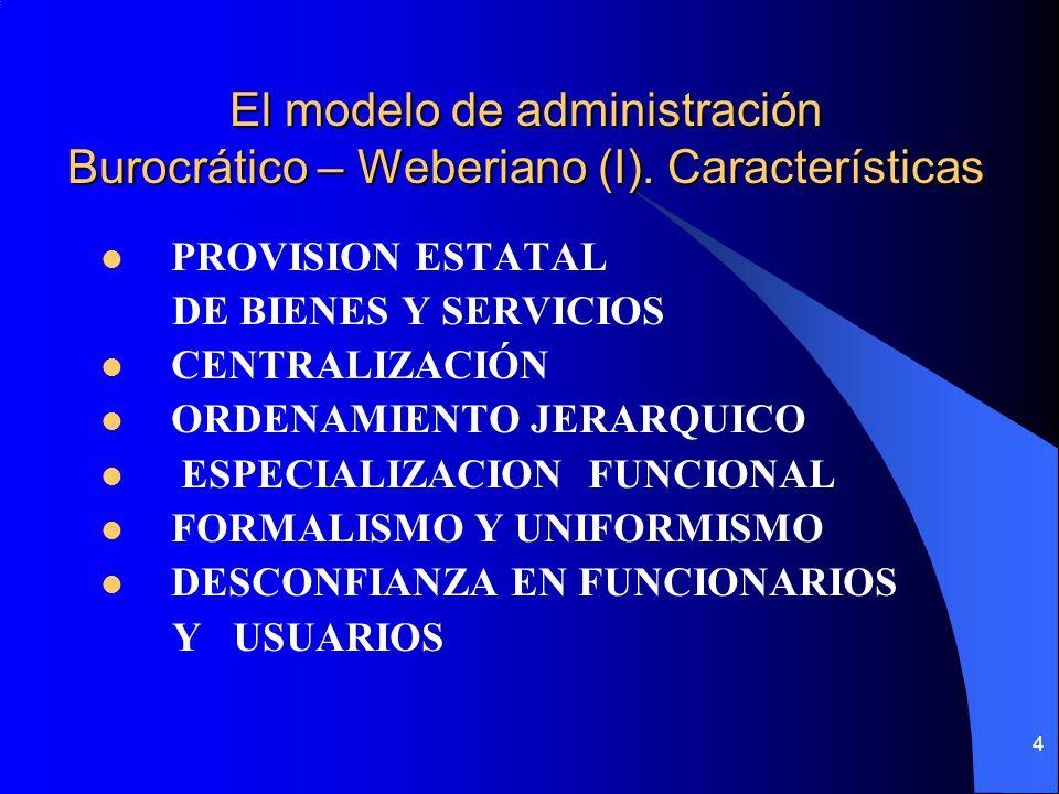 El modelo de administración Burocrático – Weberiano (I)