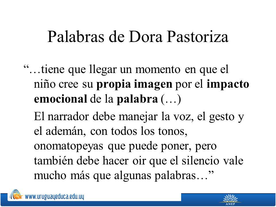 Palabras de Dora Pastoriza