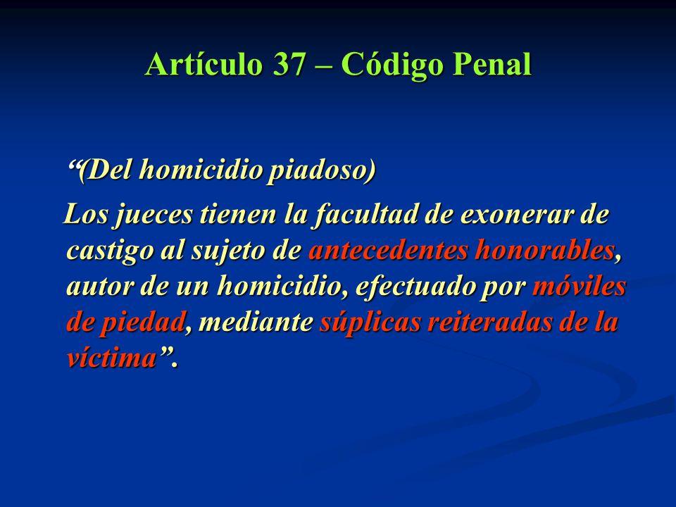 Artículo 37 – Código Penal
