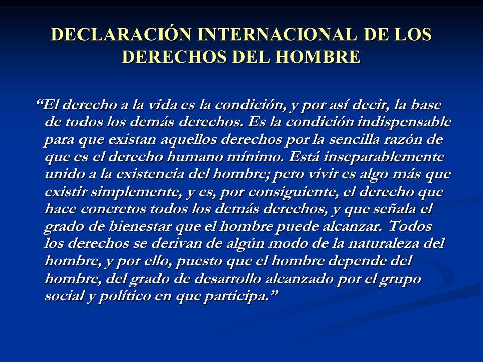 DECLARACIÓN INTERNACIONAL DE LOS DERECHOS DEL HOMBRE