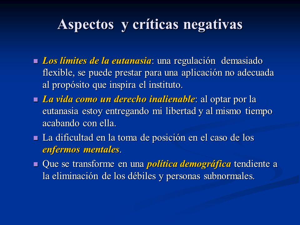 Aspectos y críticas negativas