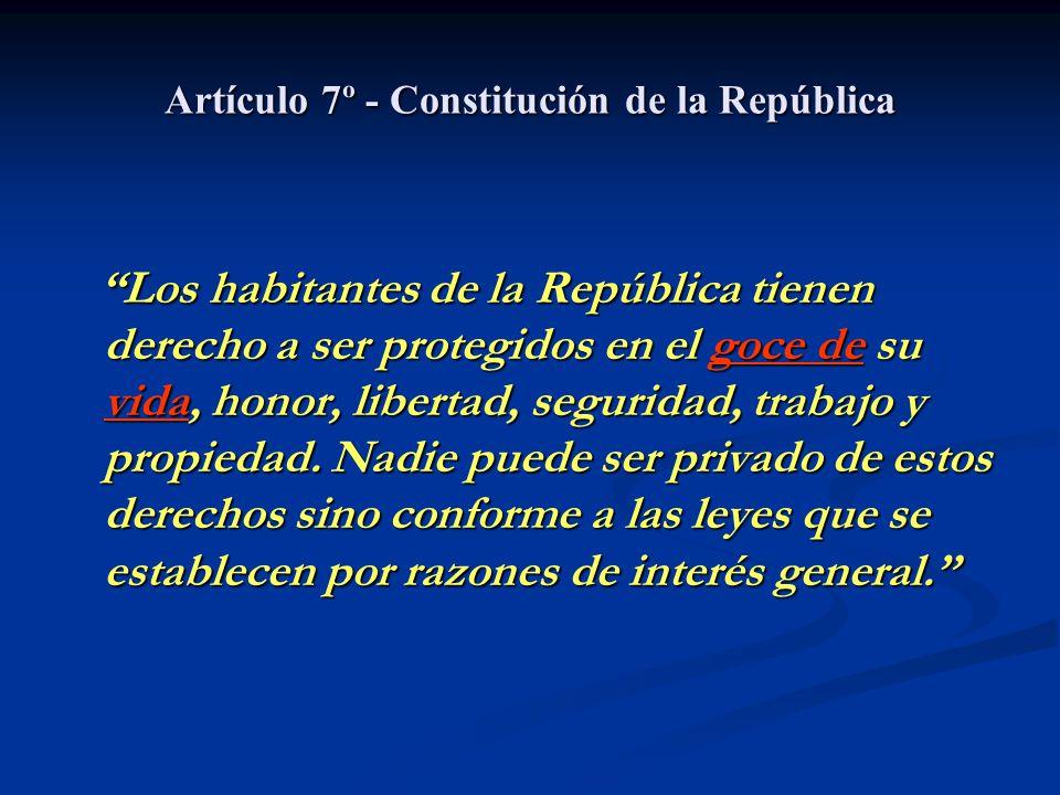 Artículo 7º - Constitución de la República