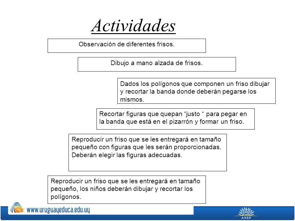 Actividades Observación de diferentes frisos.