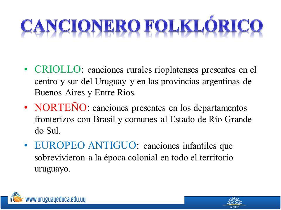 CANCIONERO FOLKLÓRICO