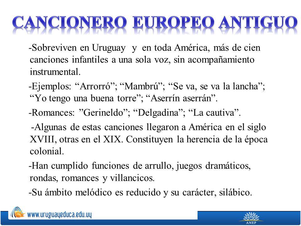 CANCIONERO EUROPEO ANTIGUO