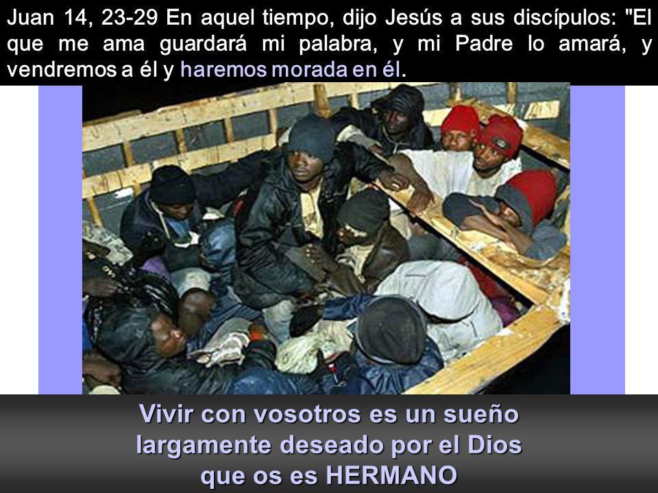 Juan 14, 23-29 En aquel tiempo, dijo Jesús a sus discípulos: El que me ama guardará mi palabra, y mi Padre lo amará, y vendremos a él y haremos morada en él.