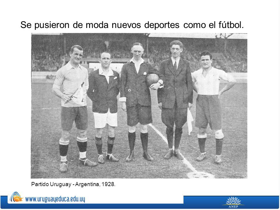 Se pusieron de moda nuevos deportes como el fútbol.