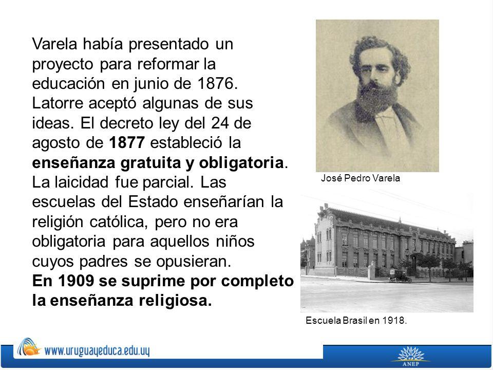 En 1909 se suprime por completo la enseñanza religiosa.