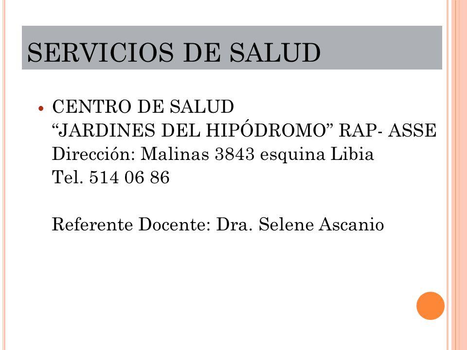SERVICIOS DE SALUD CENTRO DE SALUD JARDINES DEL HIPÓDROMO RAP- ASSE