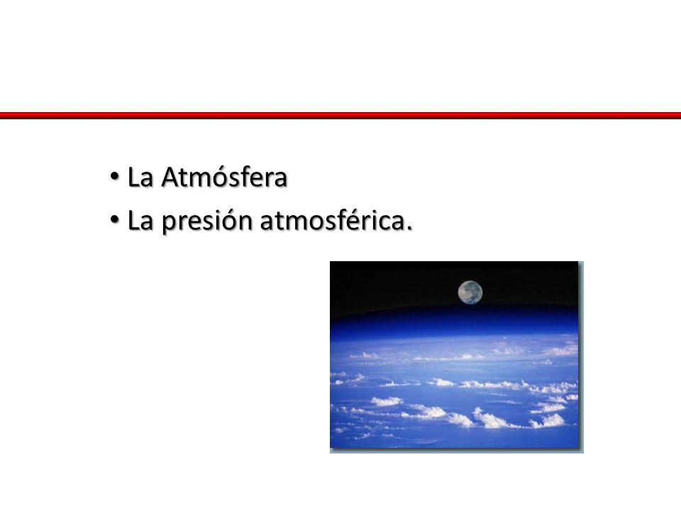 La Atmósfera La presión atmosférica.