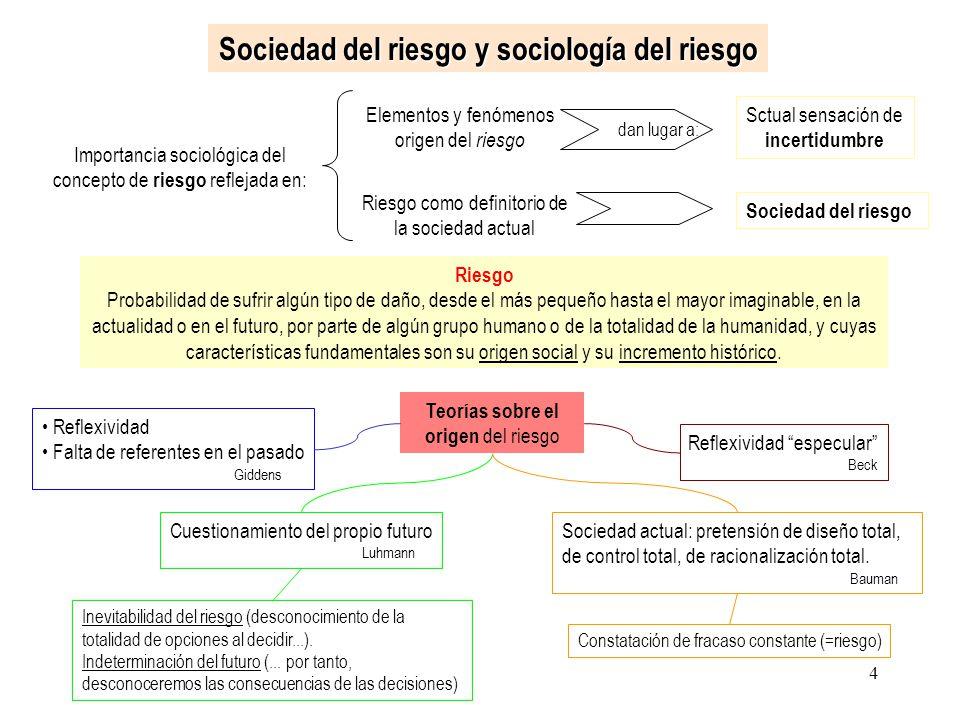 Sociedad del riesgo y sociología del riesgo