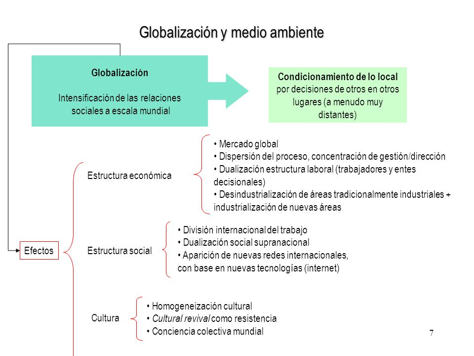 Globalización y medio ambiente