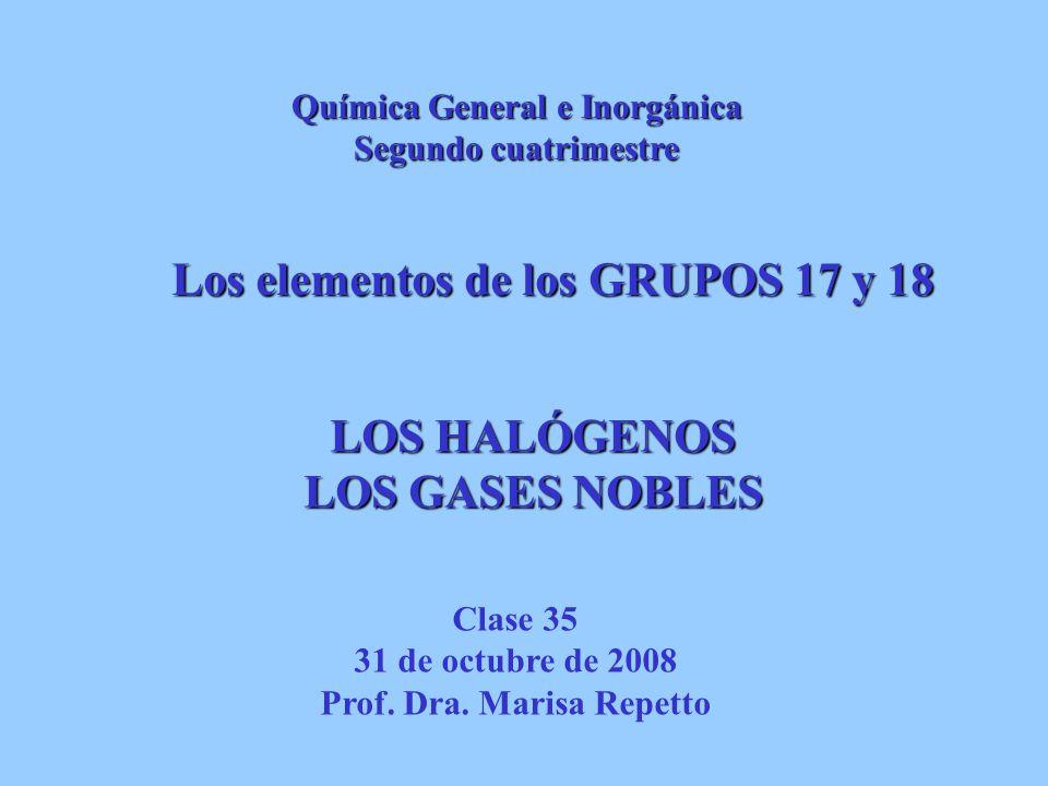 Química General e Inorgánica Prof. Dra. Marisa Repetto