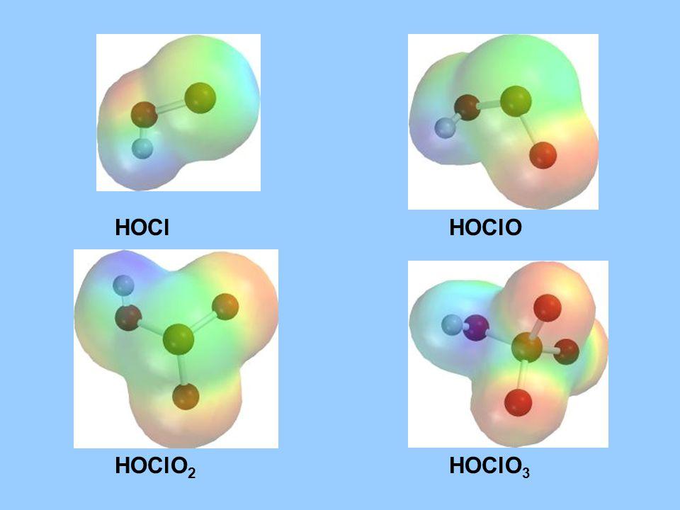HOCl HOClO HOClO2 HOClO3