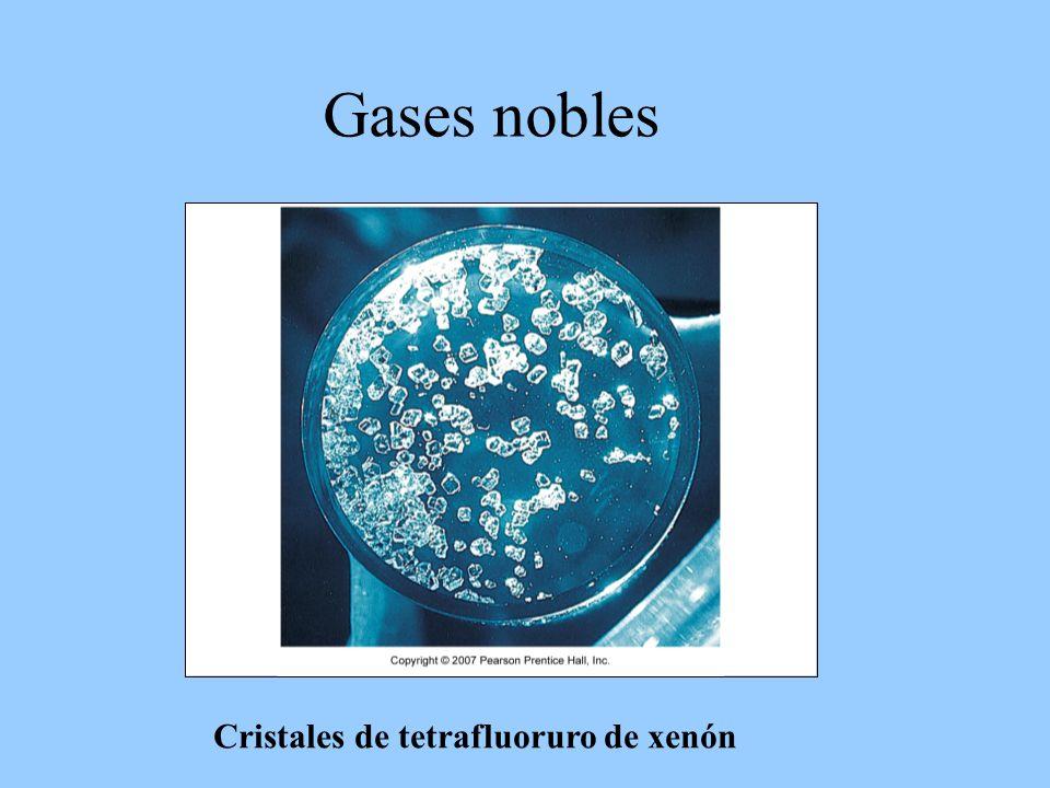 Cristales de tetrafluoruro de xenón