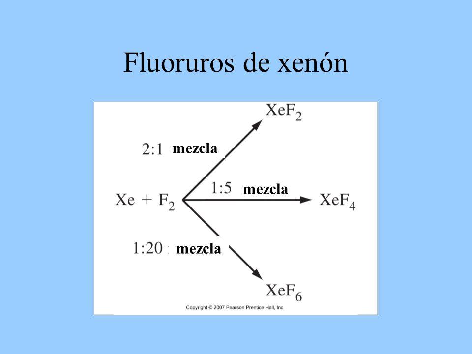 Fluoruros de xenón mezcla mezcla mezcla