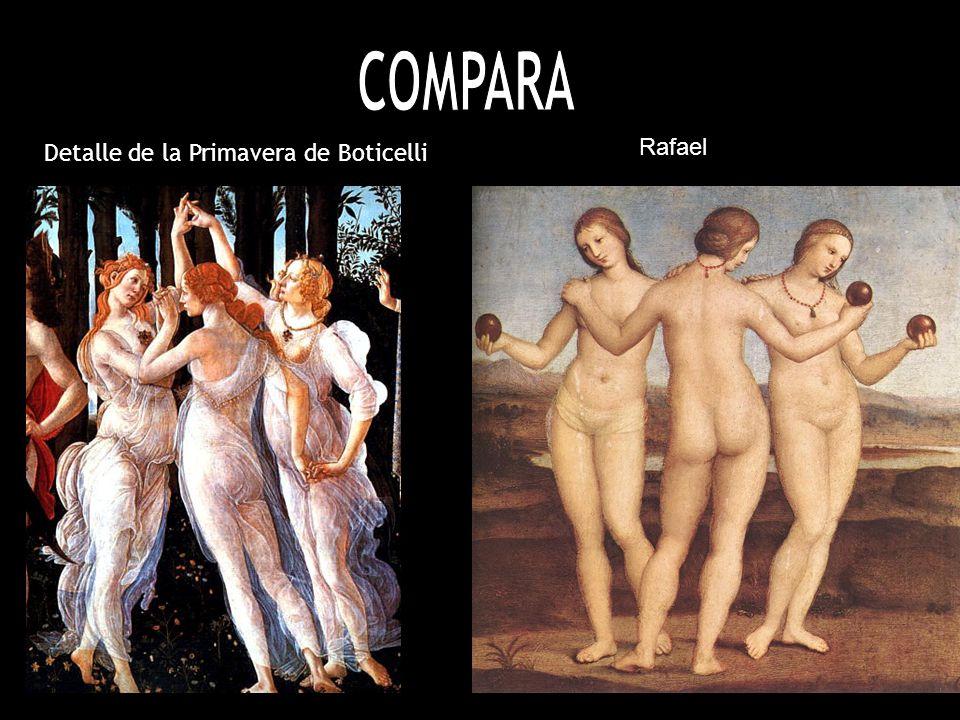 COMPARA Detalle de la Primavera de Boticelli Rafael