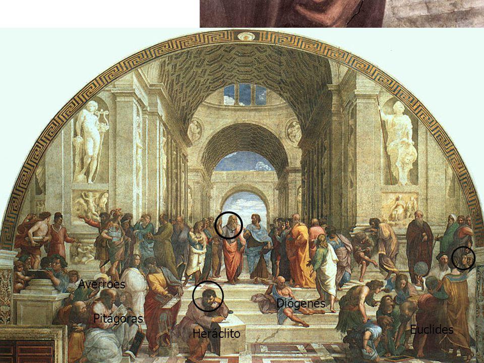 Rafael se ha retratado en el joven del gorro negro, en el extremo