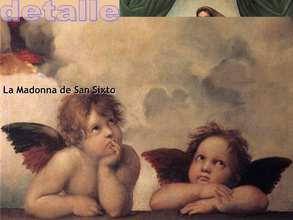 detalle La Madonna de San Sixto