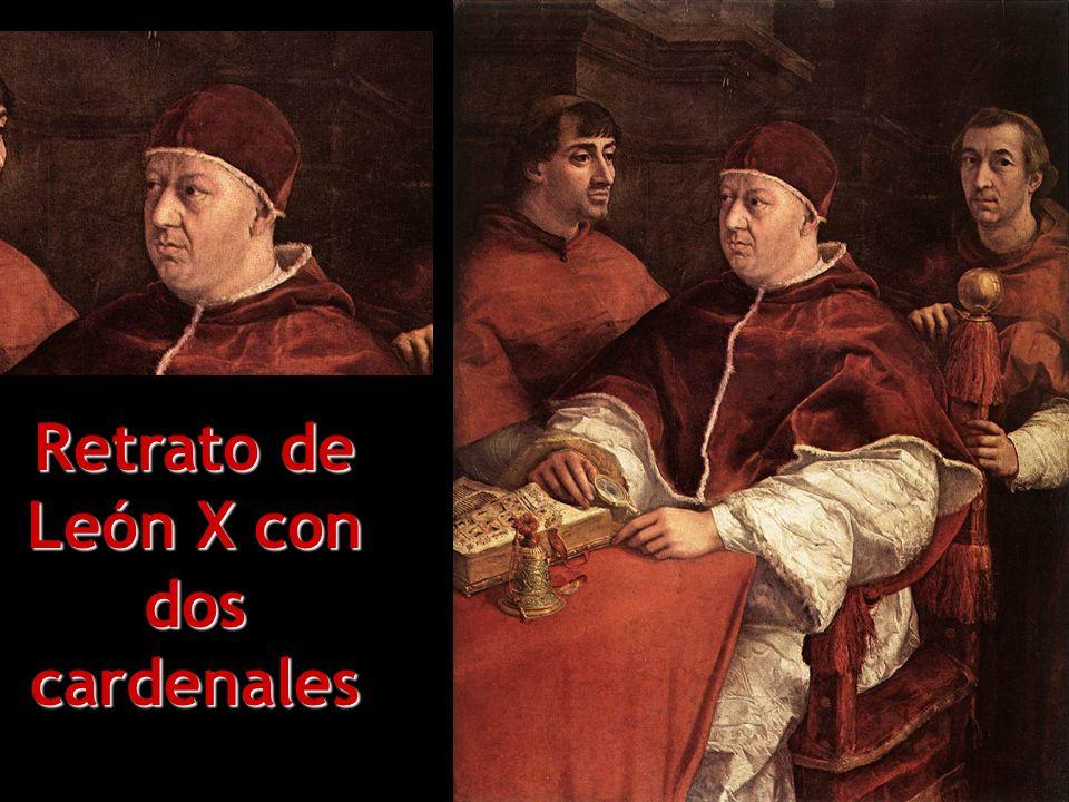 Retrato de León X con dos cardenales