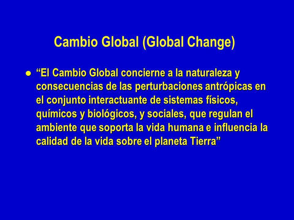 Cambio Global (Global Change)