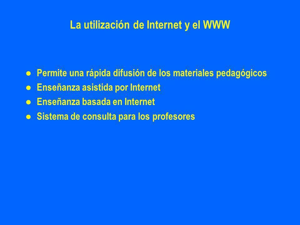 La utilización de Internet y el WWW