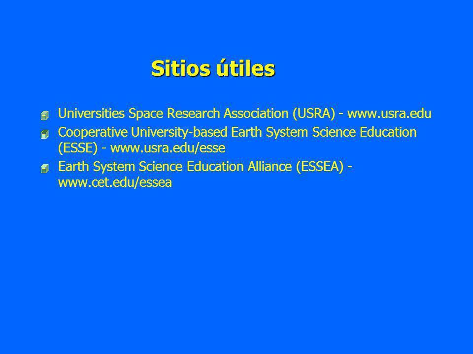 Sitios útiles Universities Space Research Association (USRA) - www.usra.edu.