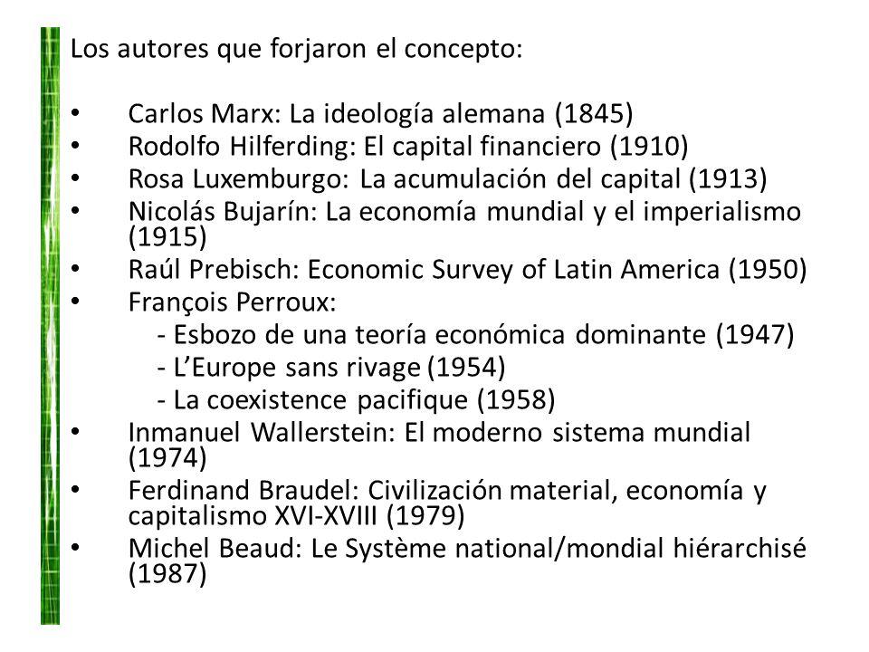 Los autores que forjaron el concepto: