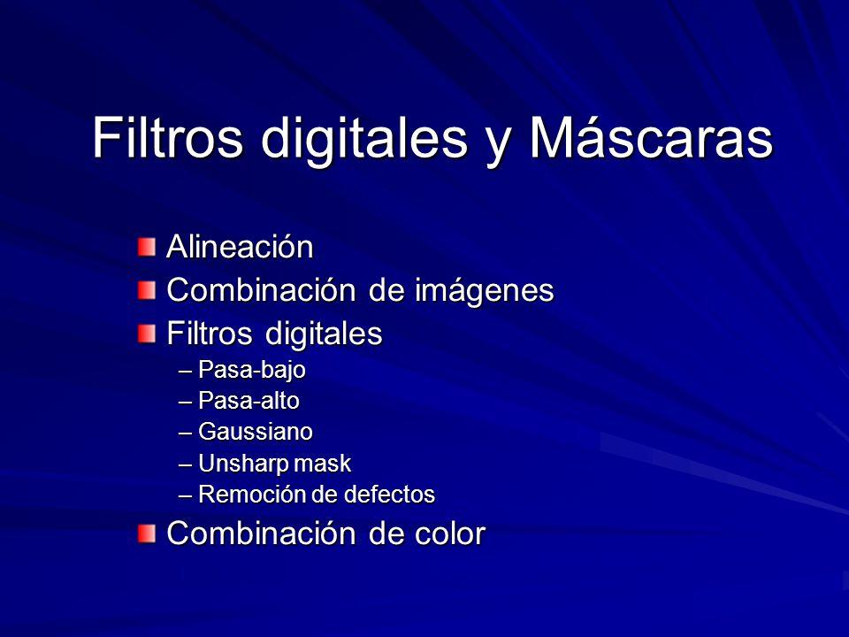 Filtros digitales y Máscaras