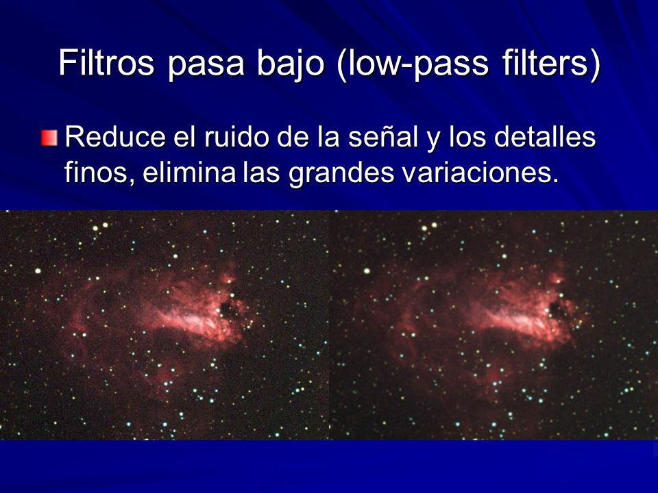 Filtros pasa bajo (low-pass filters)