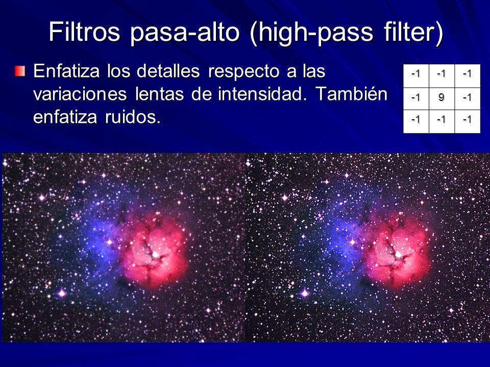 Filtros pasa-alto (high-pass filter)