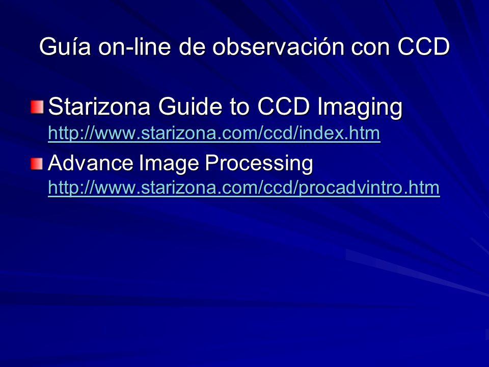 Guía on-line de observación con CCD