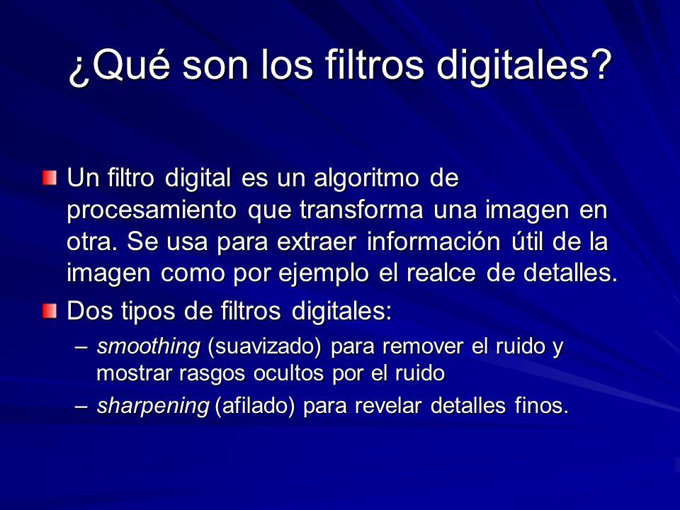 ¿Qué son los filtros digitales