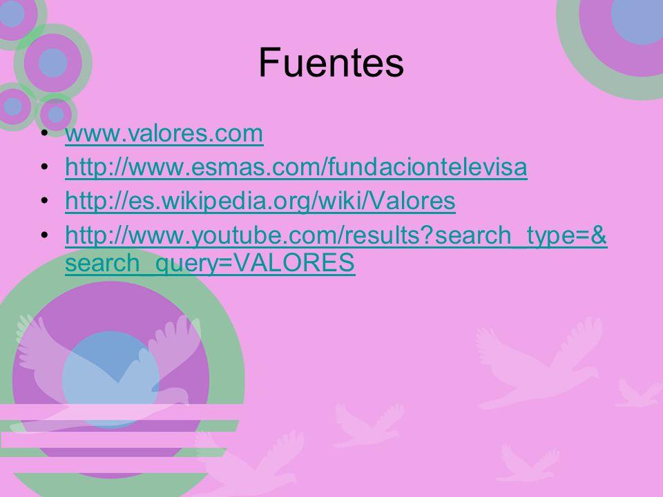 Fuentes www.valores.com http://www.esmas.com/fundaciontelevisa
