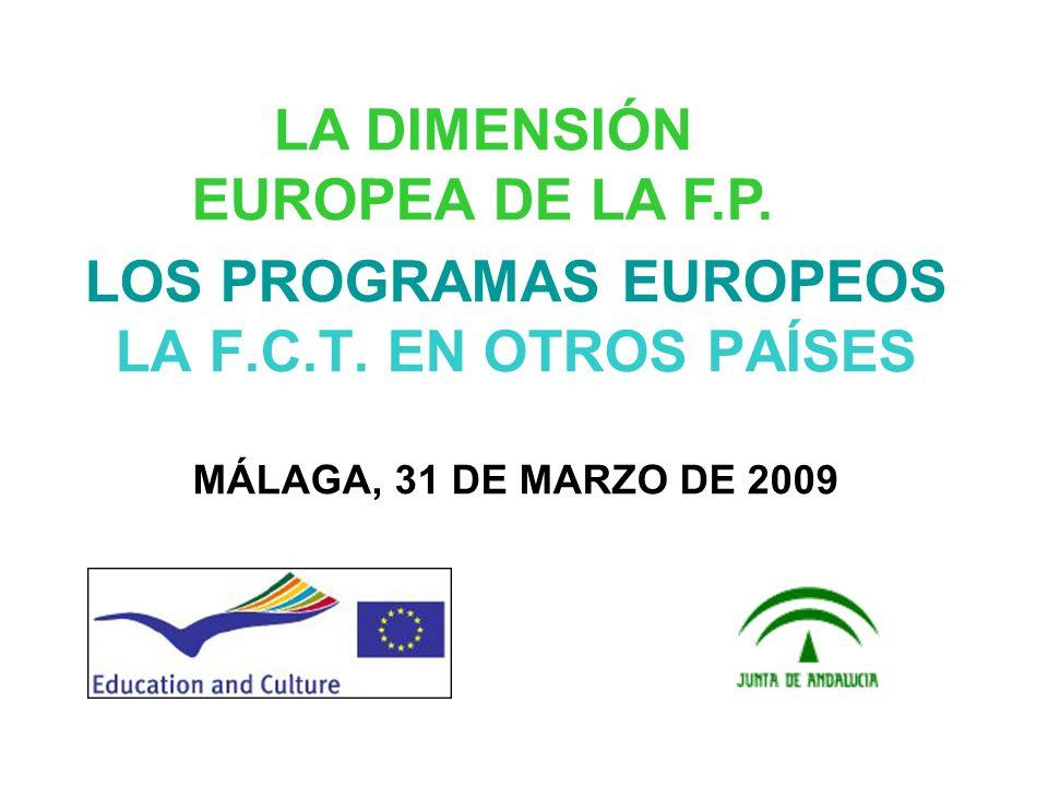 LA DIMENSIÓN EUROPEA DE LA F.P.