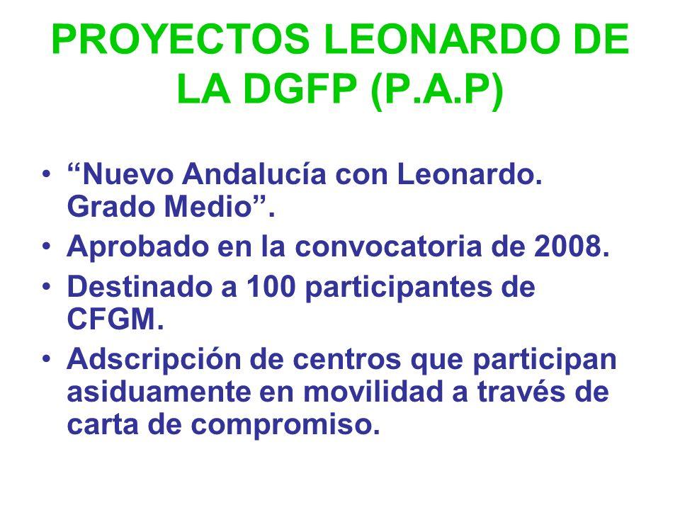PROYECTOS LEONARDO DE LA DGFP (P.A.P)