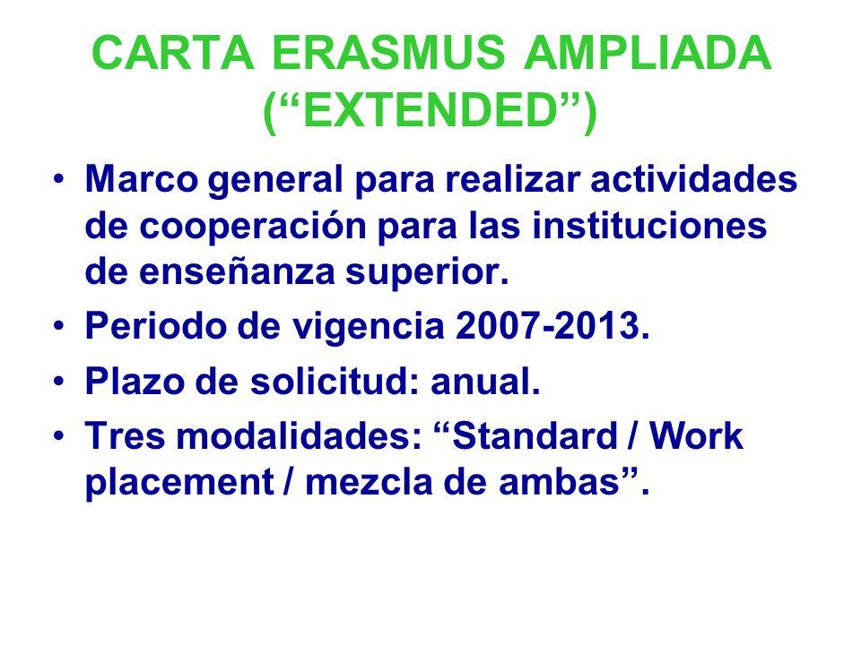 CARTA ERASMUS AMPLIADA ( EXTENDED )