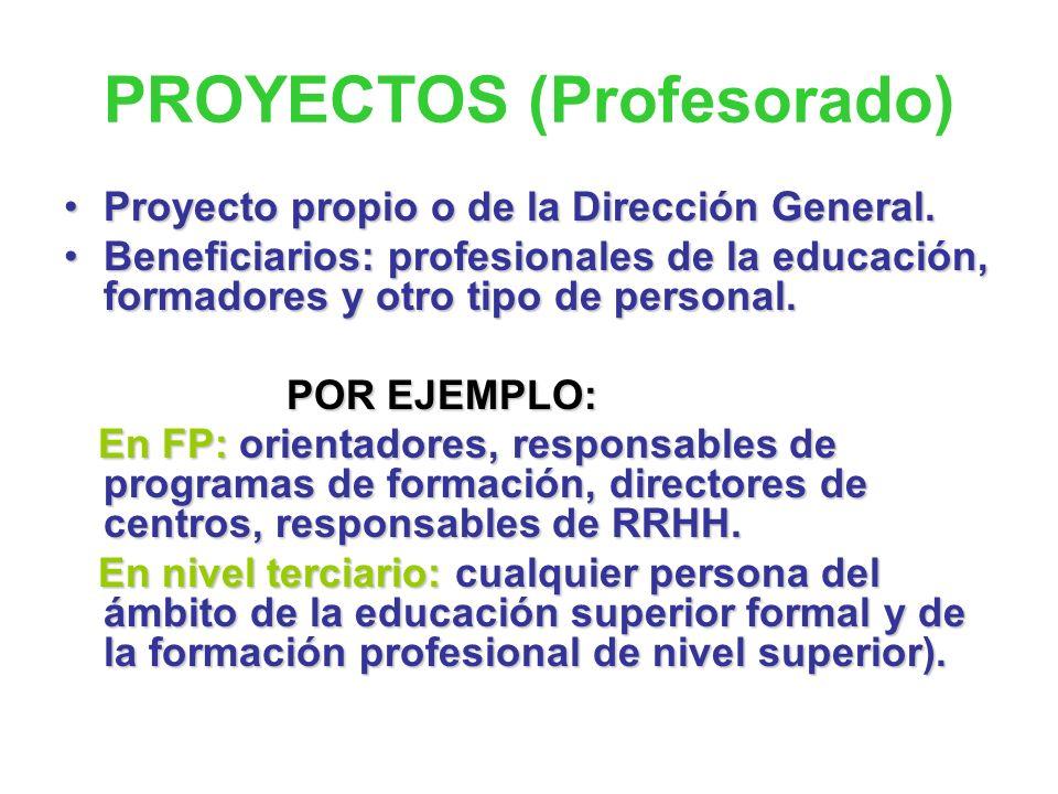 PROYECTOS (Profesorado)
