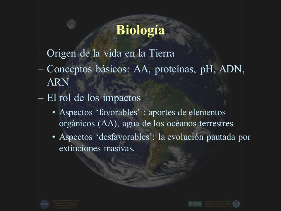 Biología Origen de la vida en la Tierra