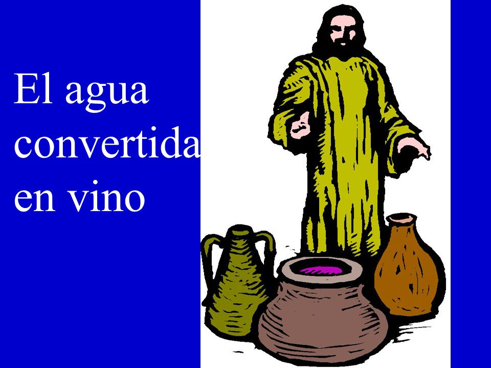 El agua convertida en vino