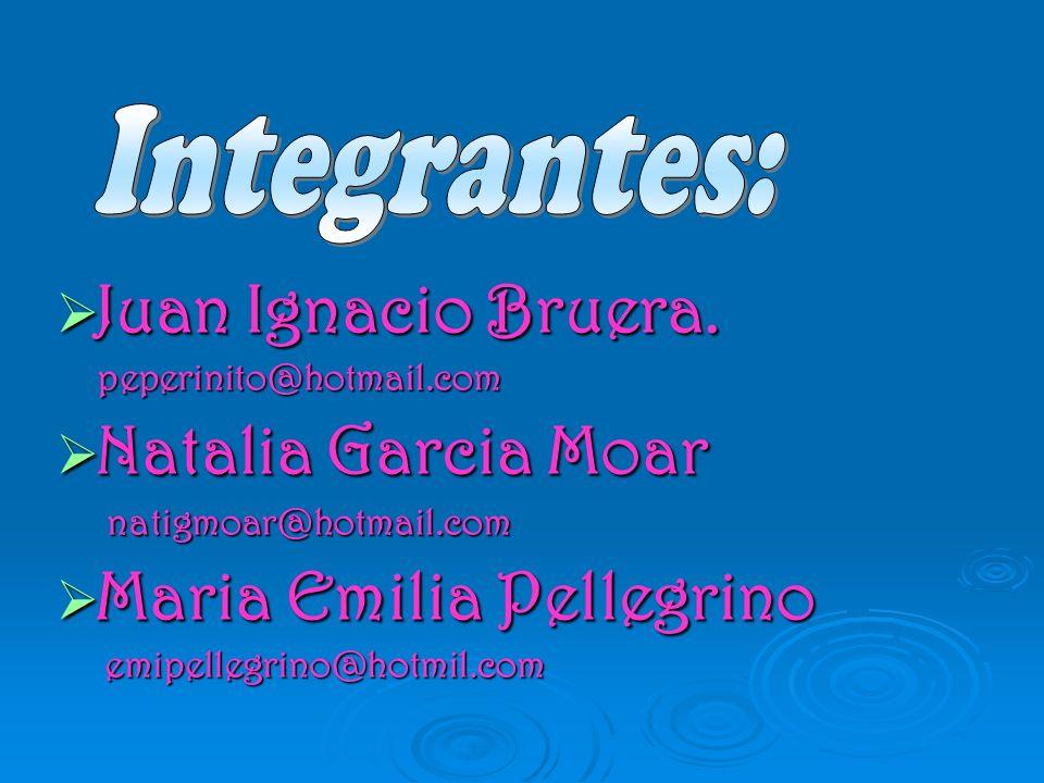 Integrantes: Juan Ignacio Bruera. Natalia Garcia Moar