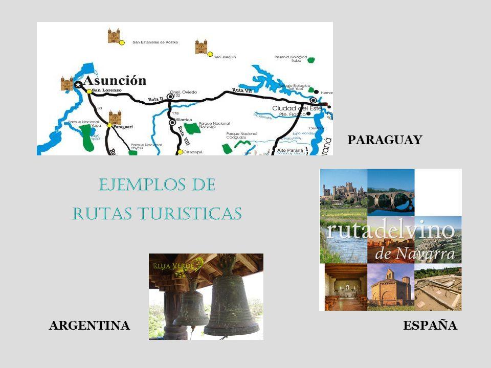 PARAGUAY Ejemplos de RUTAS TURISTICAS ARGENTINA ESPAÑA