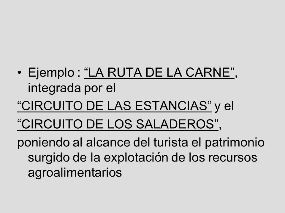 Ejemplo : LA RUTA DE LA CARNE , integrada por el