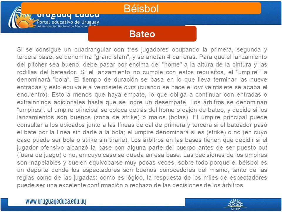 Béisbol Bateo.