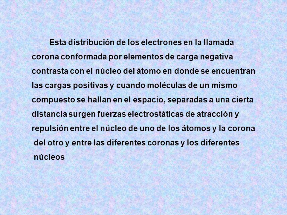 Esta distribución de los electrones en la llamada