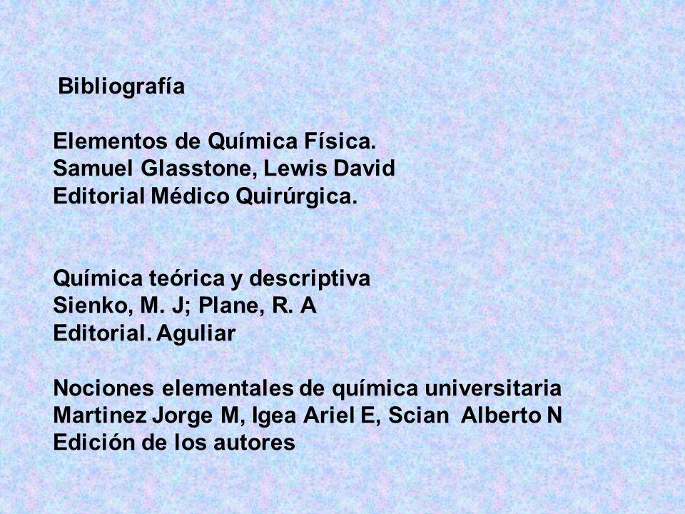 Elementos de Química Física. Samuel Glasstone, Lewis David