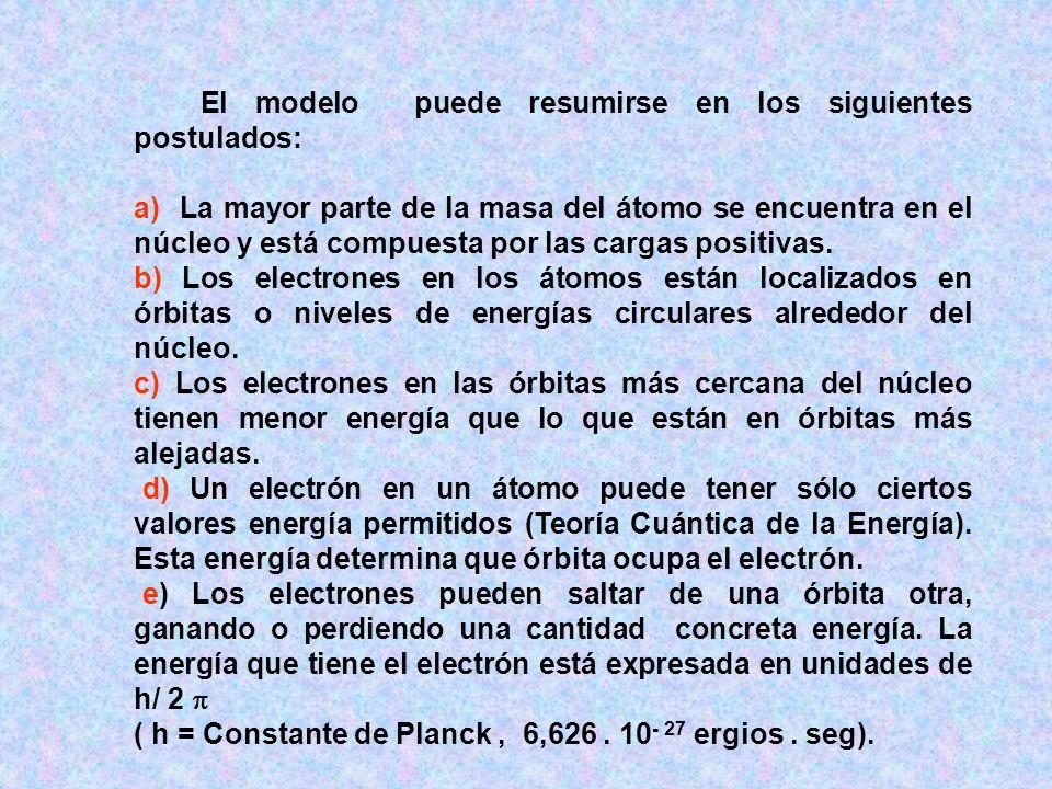 ( h = Constante de Planck , 6,626 . 10- 27 ergios . seg).